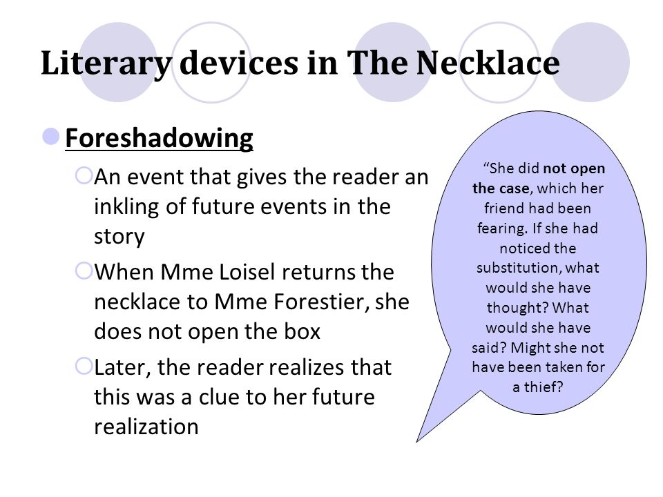 """a literary comparison of the necklace Pair """"the necklace"""" with """"why this controversial german woman turned her   pair the necklace with the gift of the magi and ask students to compare."""