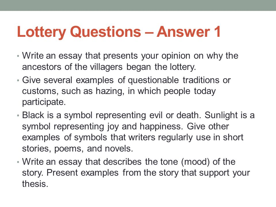 desensitization of murder in the lottery essay Print this essay download essay get full essay and that only because of their selfishness in wanting to survive, preferring someone else to die in the lottery, fitting in to the village society means blindly following tradition and accepting the yearly lottery despite its horrible consequences.