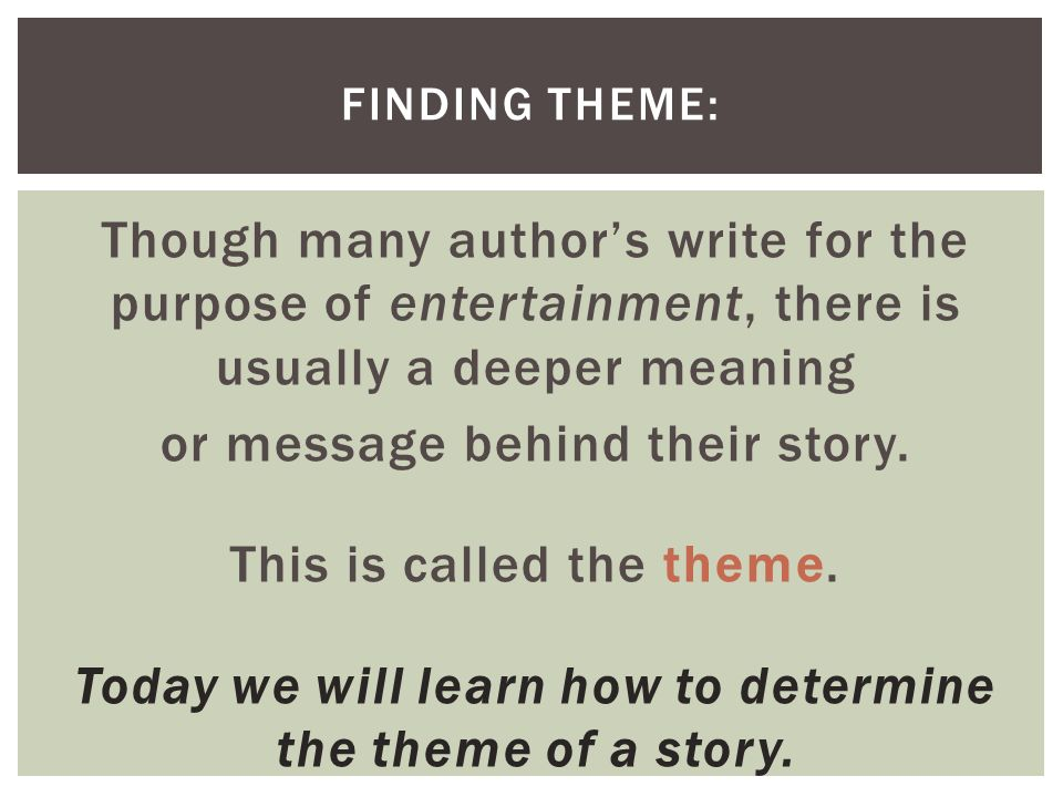 how to identify theme Click here 👆 to get an answer to your question ️ in order to infer a theme from a story, one must identify the central _____ and its _____ conflict.
