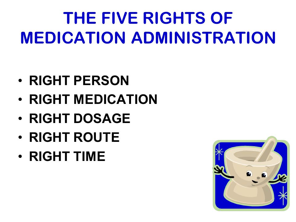 rights of drug administration Medications are made to help us, but they can harm us if taken incorrectly learn how drugs are administered and why it's important to do it the right way.