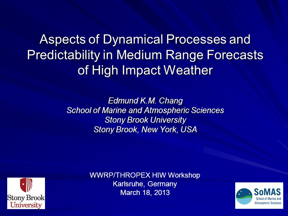 Aspects of Dynamical Processes and Predictability in Medium Range Forecasts of High Impact Weather