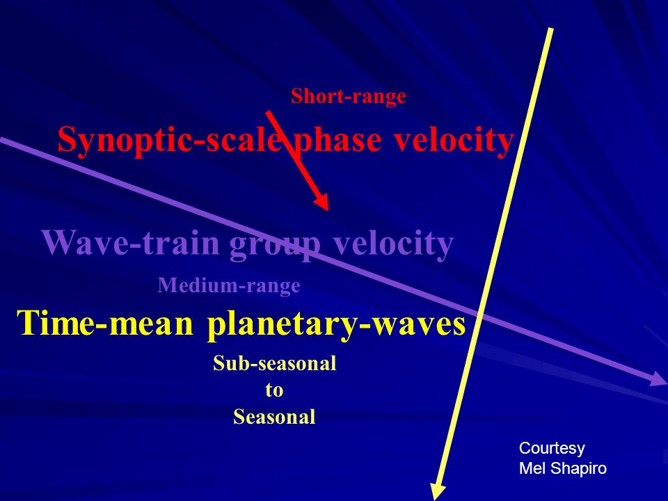 Synoptic-scale phase velocity