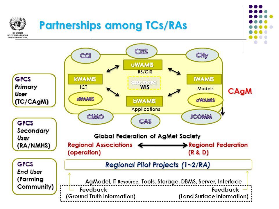 Regional Pilot Projects (1~2/RA)