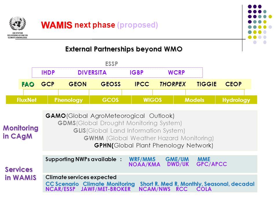 WAMIS next phase (proposed)
