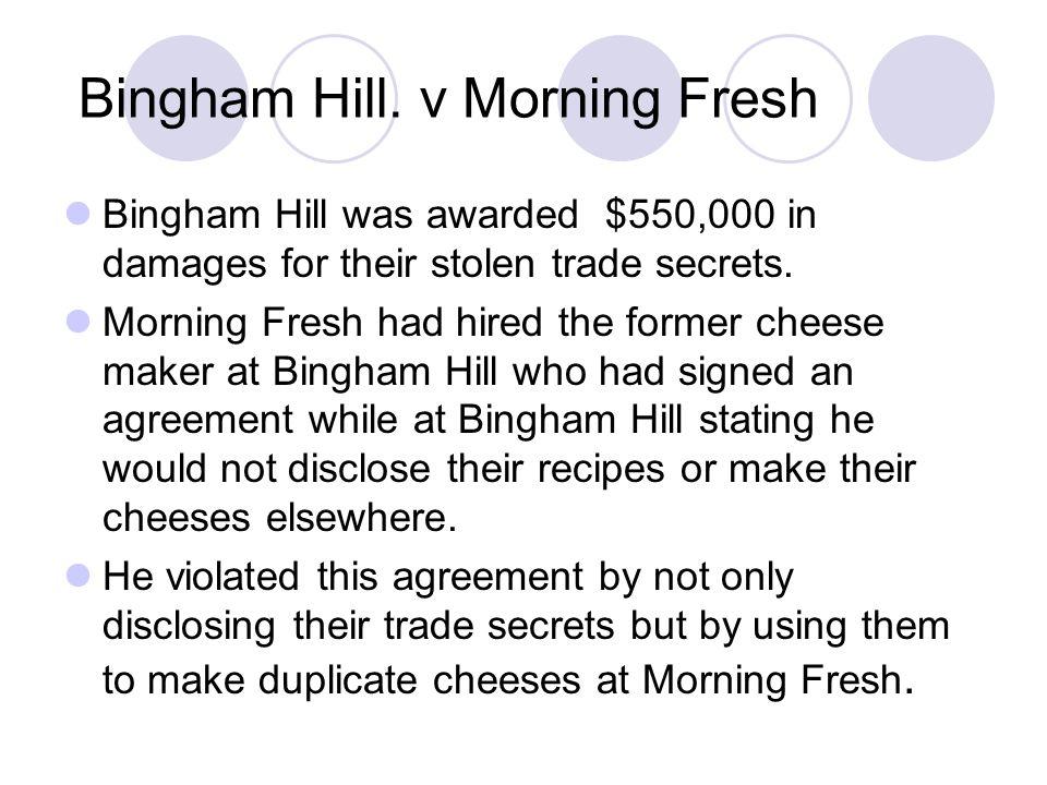 Bingham Hill. v Morning Fresh