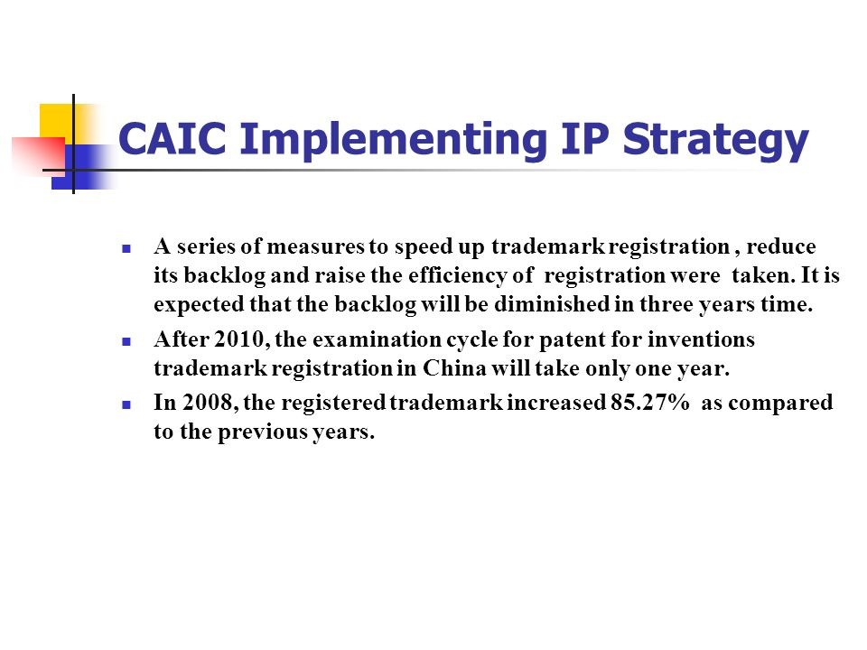 CAIC Implementing IP Strategy