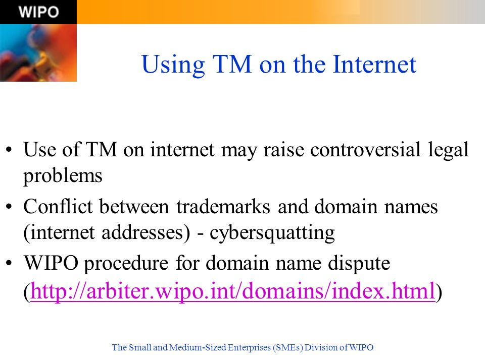 Using TM on the Internet