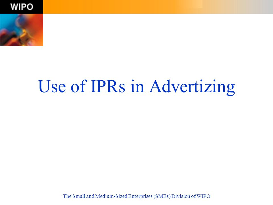 Use of IPRs in Advertizing
