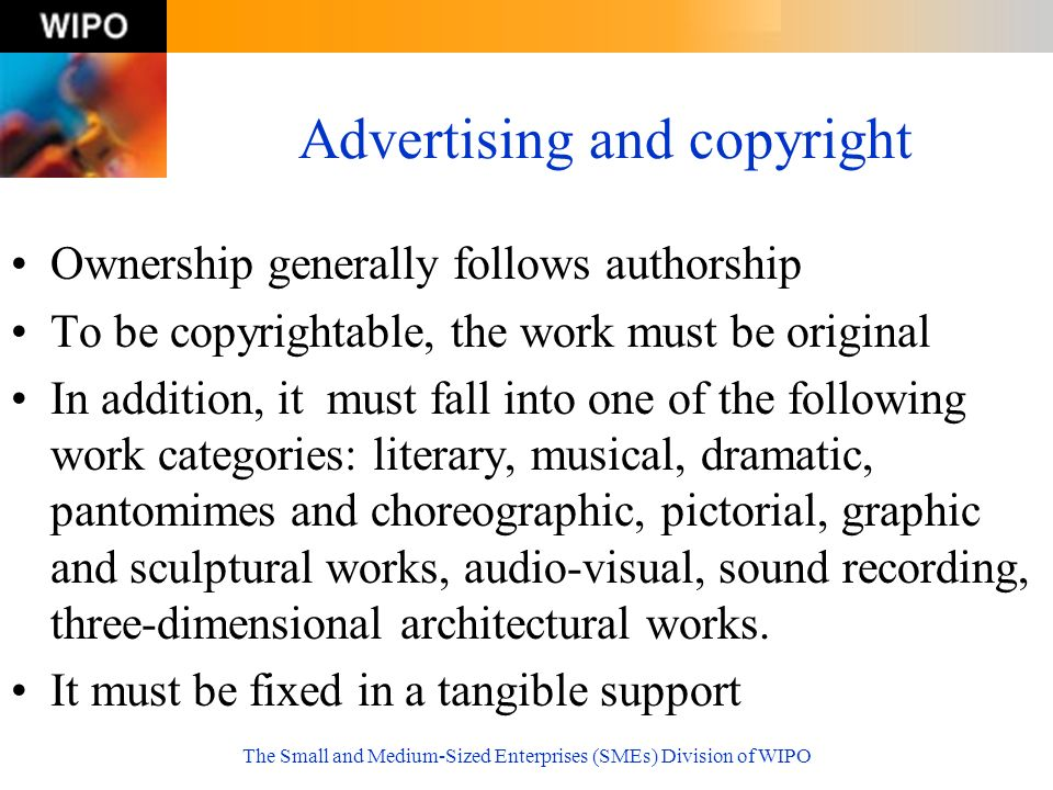 Advertising and copyright