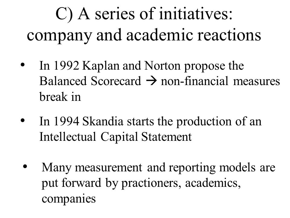 C) A series of initiatives: company and academic reactions