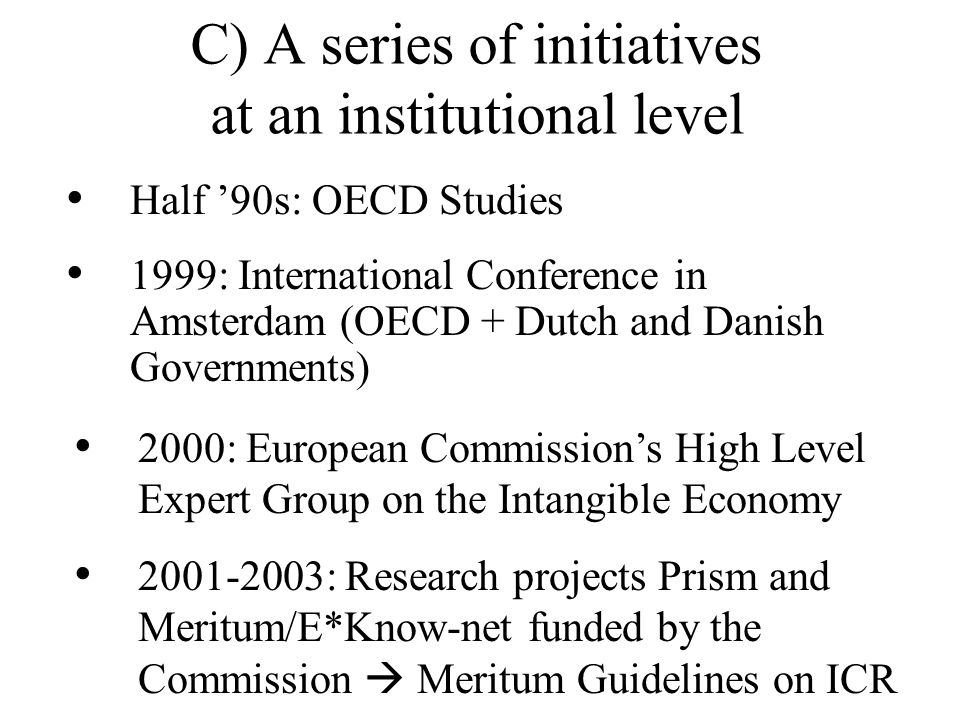 C) A series of initiatives at an institutional level
