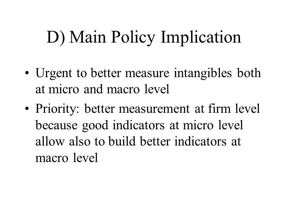 D) Main Policy Implication