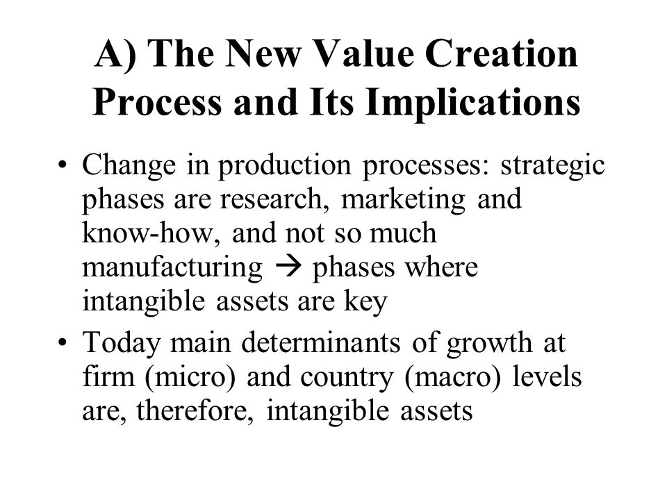 A) The New Value Creation Process and Its Implications