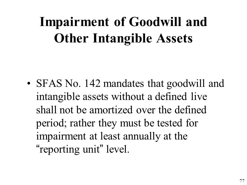 Impairment of Goodwill and Other Intangible Assets