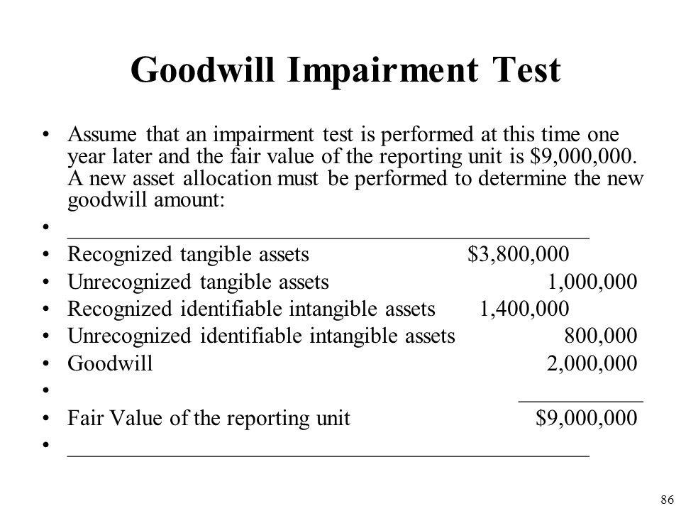 Goodwill Impairment Test