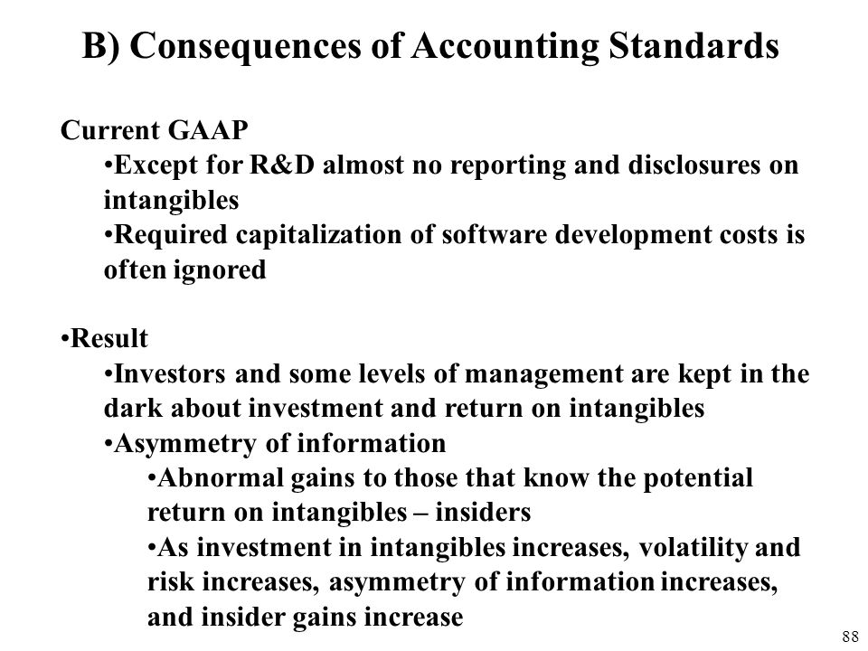 B) Consequences of Accounting Standards