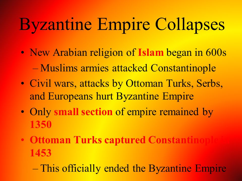 Byzantine Empire Collapses