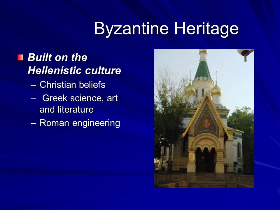 greek and hellenistic civilization the byzantine Greco-roman influence the hellenistic age :: 323 to 66 bc  the eastern empire became the byzantine empire the byzantine romans spoke greek instead of latin and.