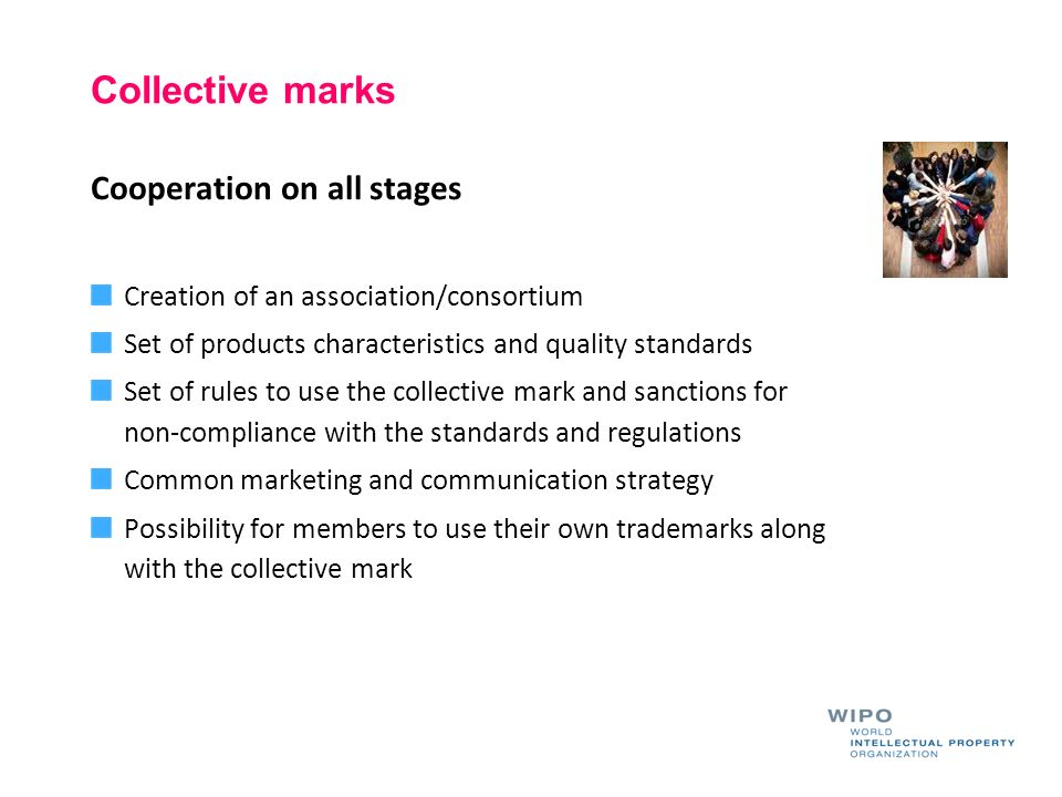 Collective marks Cooperation on all stages