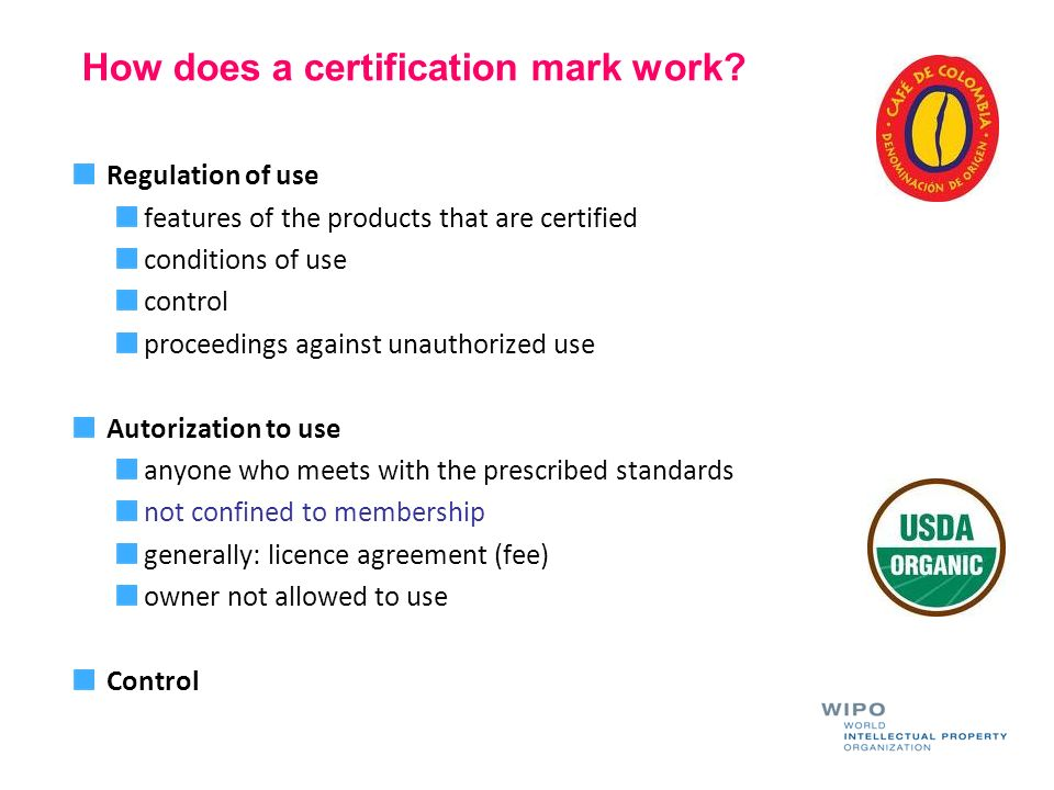 How does a certification mark work