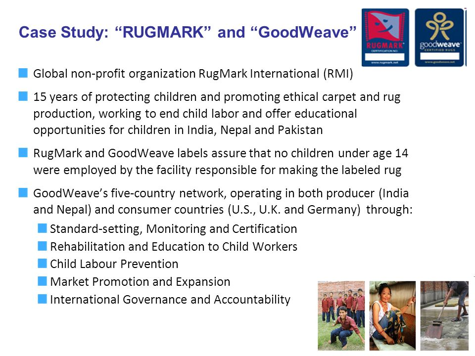 Case Study: RUGMARK and GoodWeave