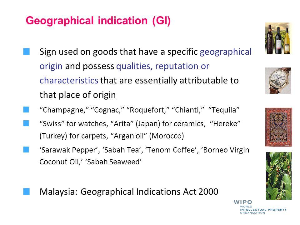 Geographical indication (GI)