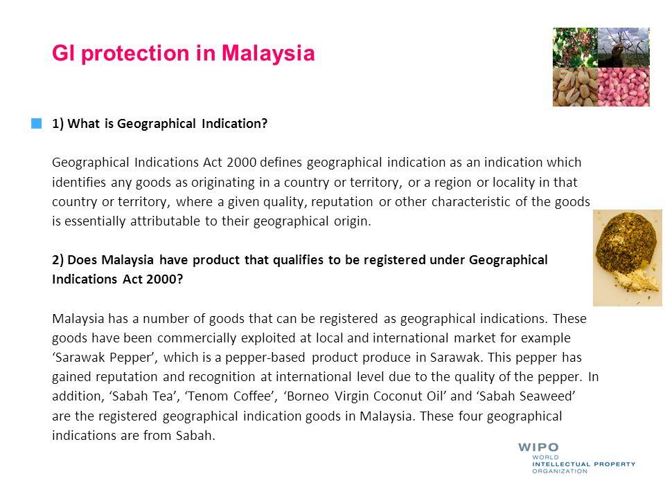 GI protection in Malaysia