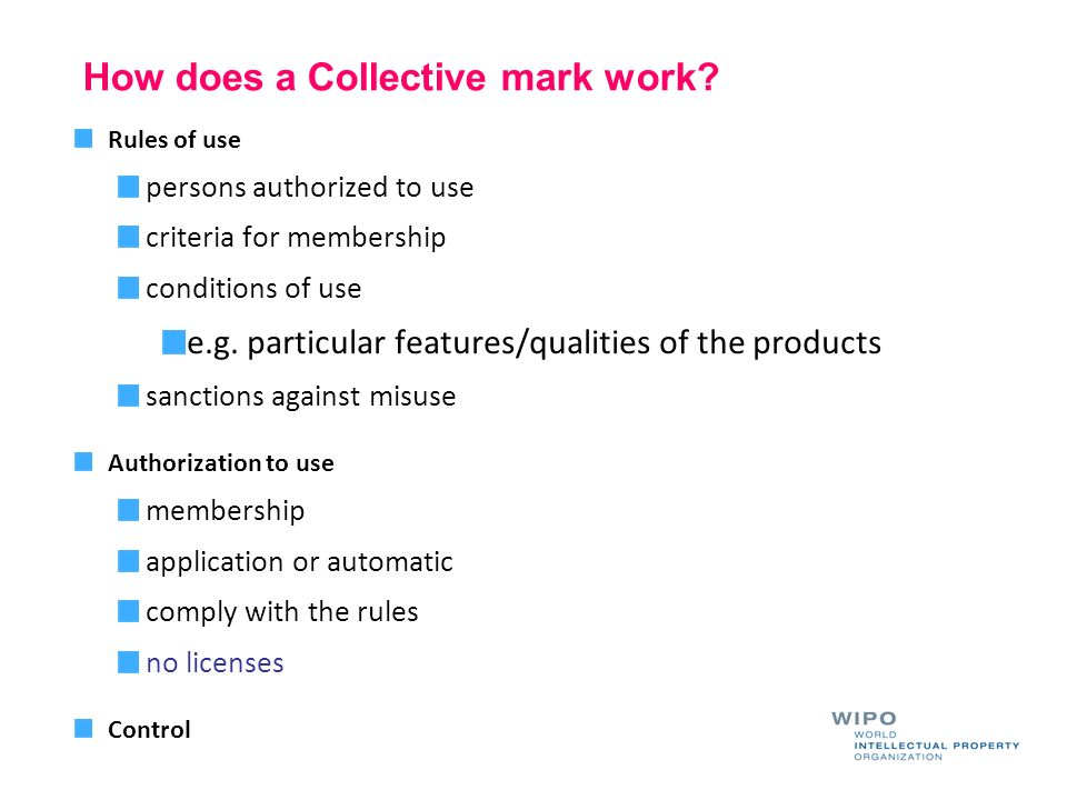 How does a Collective mark work