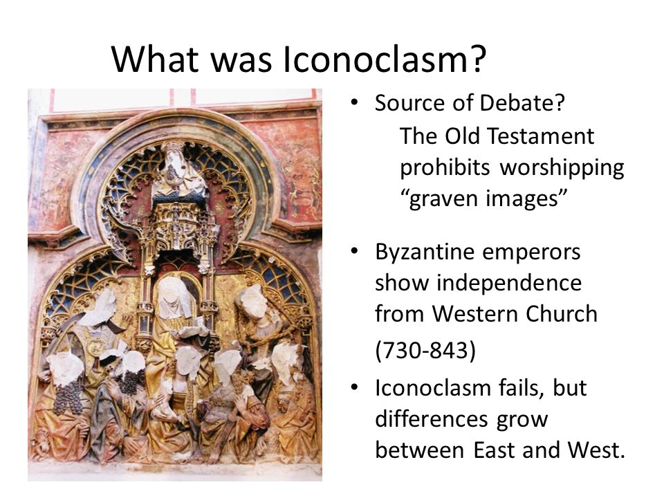 What was Iconoclasm Source of Debate