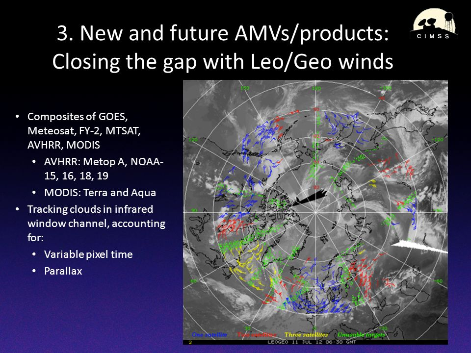 3. New and future AMVs/products: Closing the gap with Leo/Geo winds