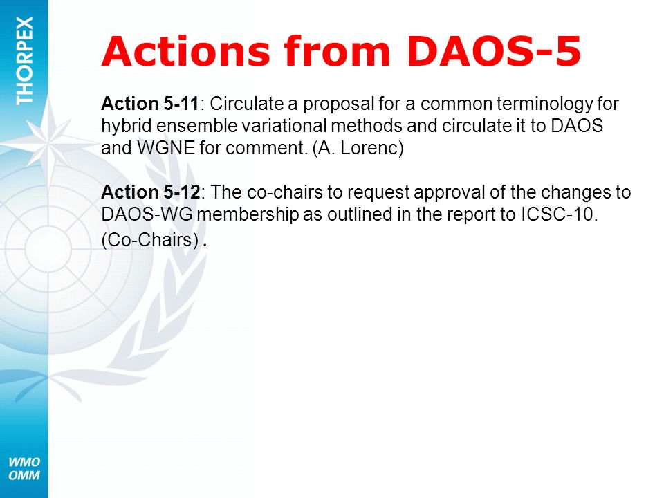 Actions from DAOS-5