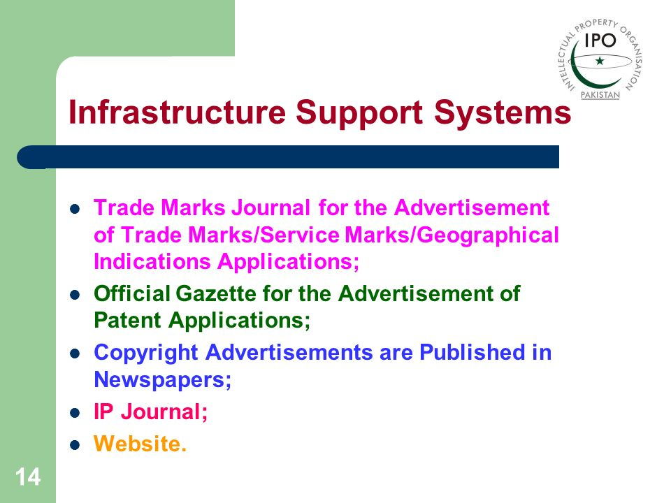 Infrastructure Support Systems