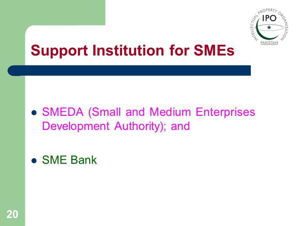 Support Institution for SMEs