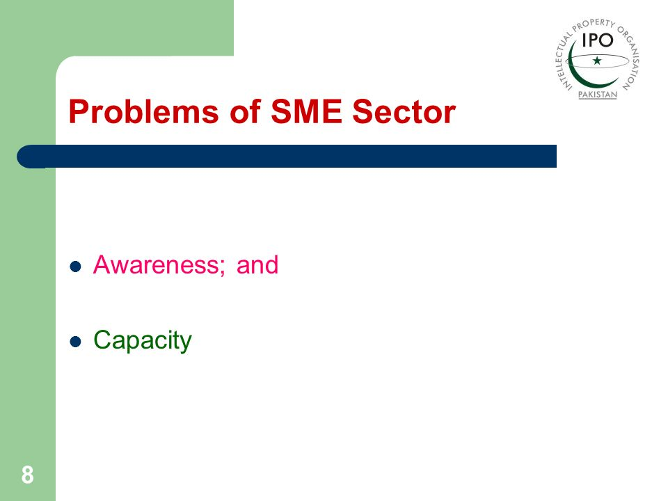Problems of SME Sector Awareness; and Capacity