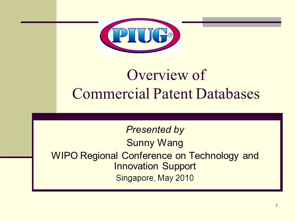 Overview of Commercial Patent Databases
