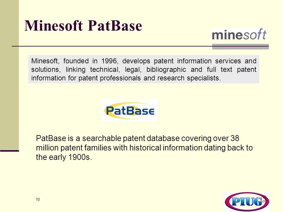 Minesoft PatBase