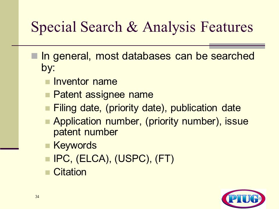 Special Search & Analysis Features