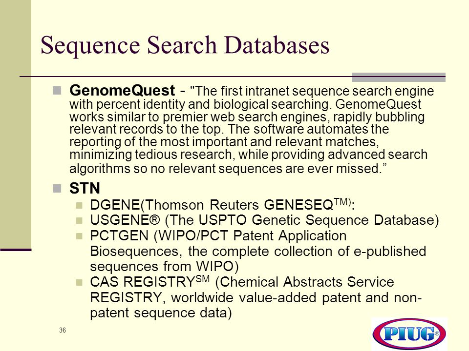 Sequence Search Databases