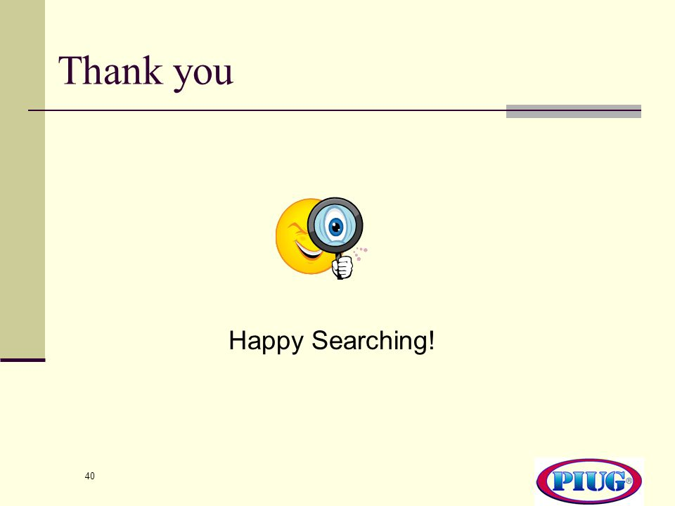 Thank you Happy Searching!