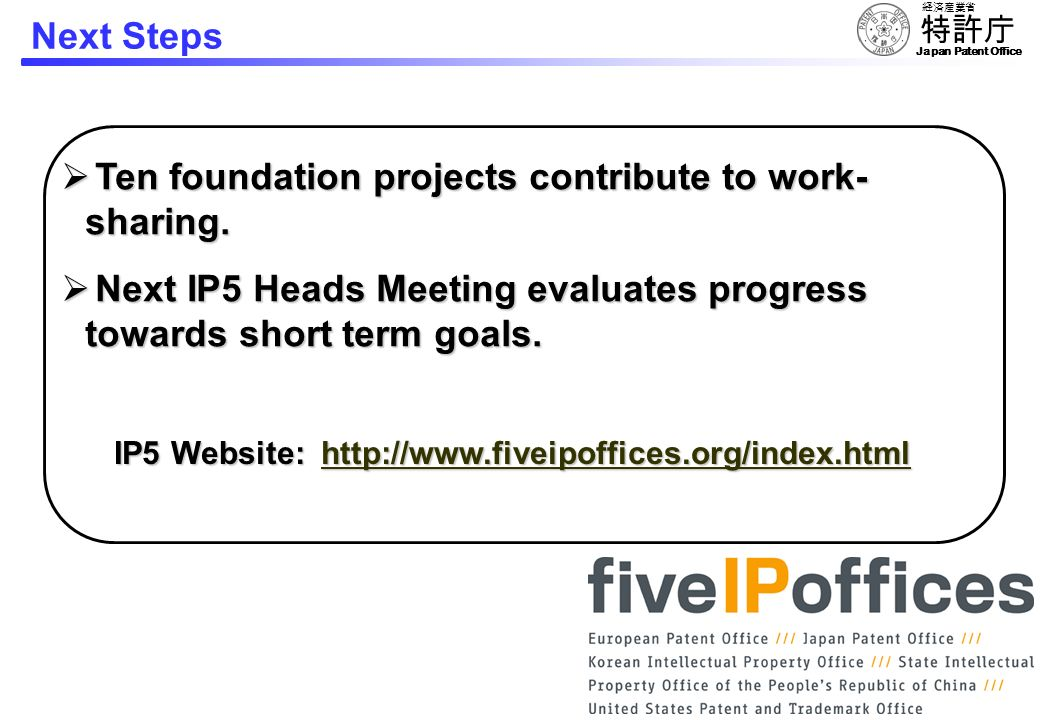 Ten foundation projects contribute to work-sharing.