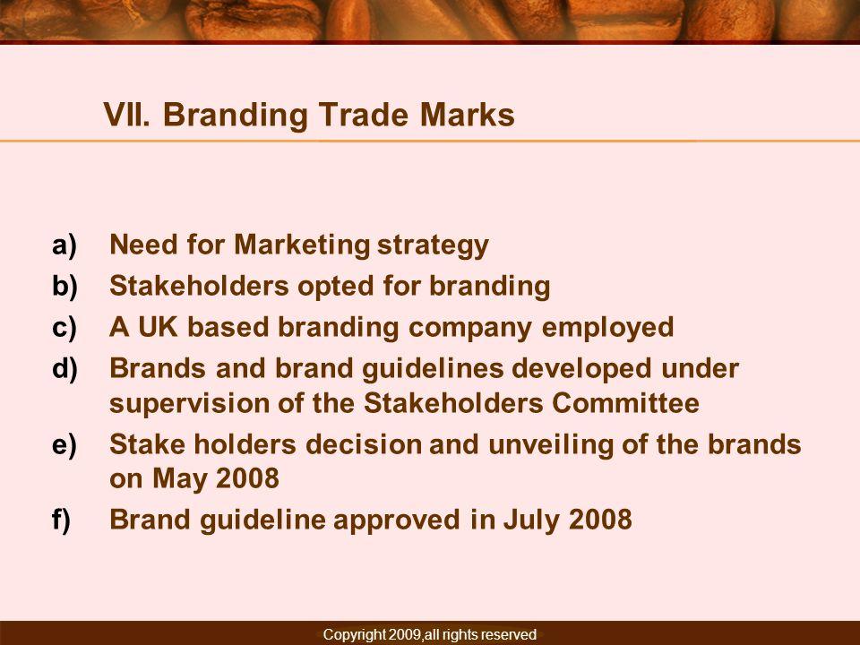 VII. Branding Trade Marks