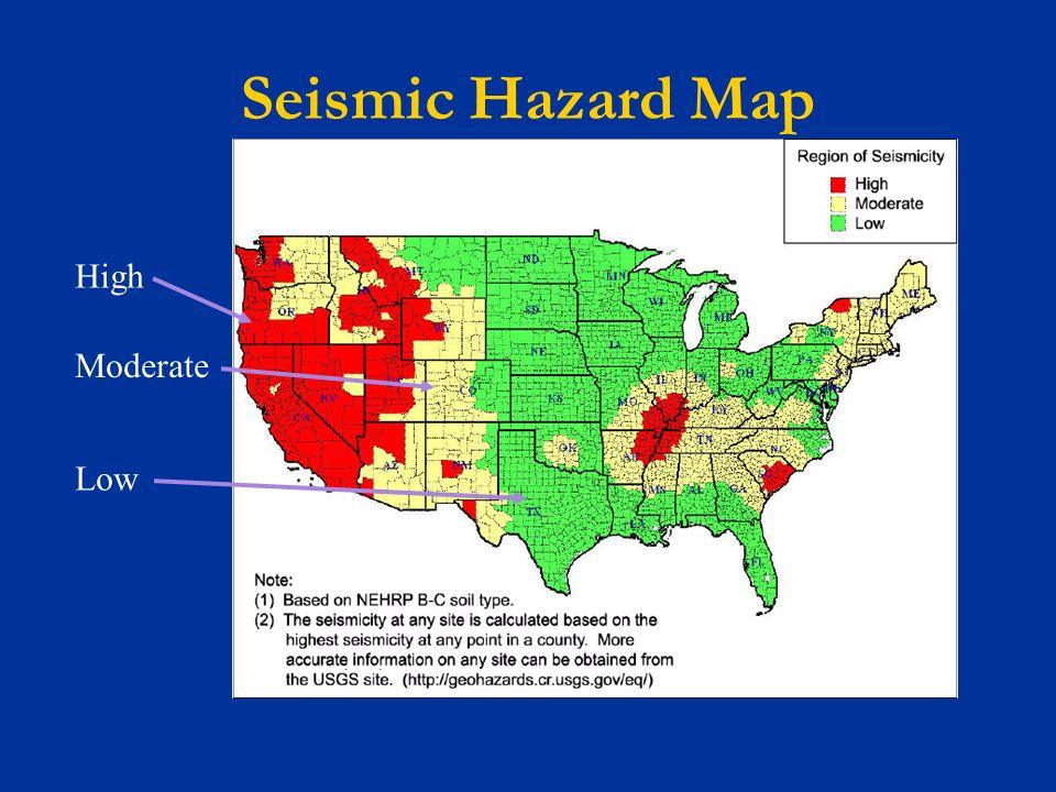 FEMA Nonstructural Earthquake Hazard Mitigation Training Ppt - Us seismic hazard map