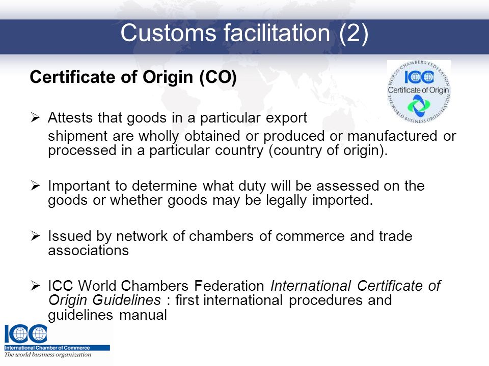 Customs facilitation (2)