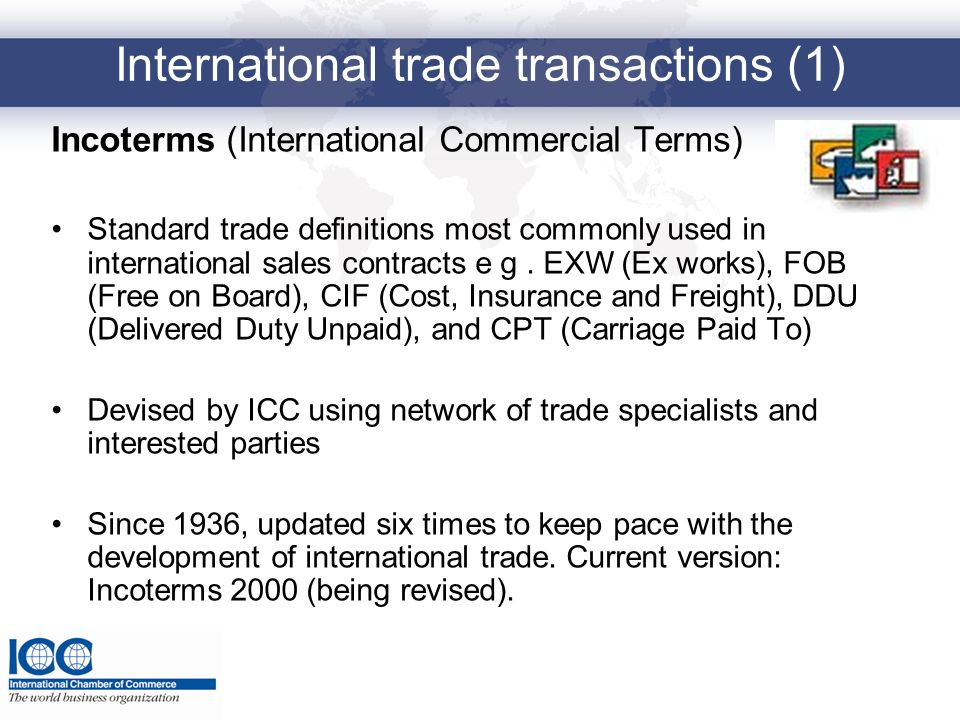 International trade transactions (1)