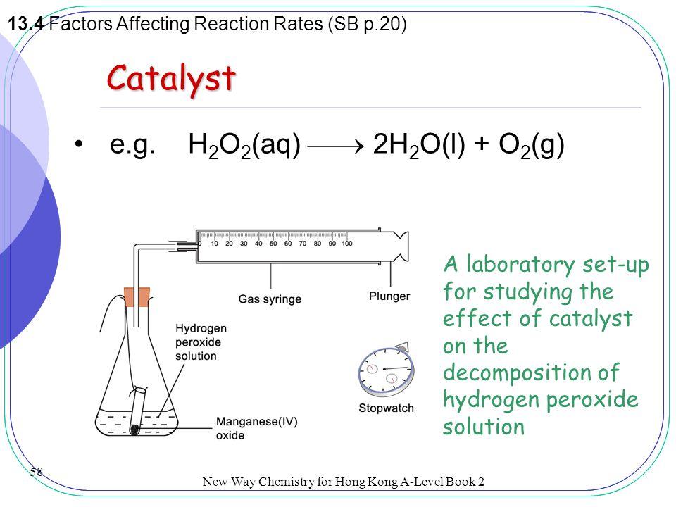 catalytic decomposition of hydrogen peroxide by Decomposition of hydrogen peroxide in presence of mixed keywords: cobalt, nickel, decomposition, hydrogen peroxide ipc enhancement of the catalytic activity.