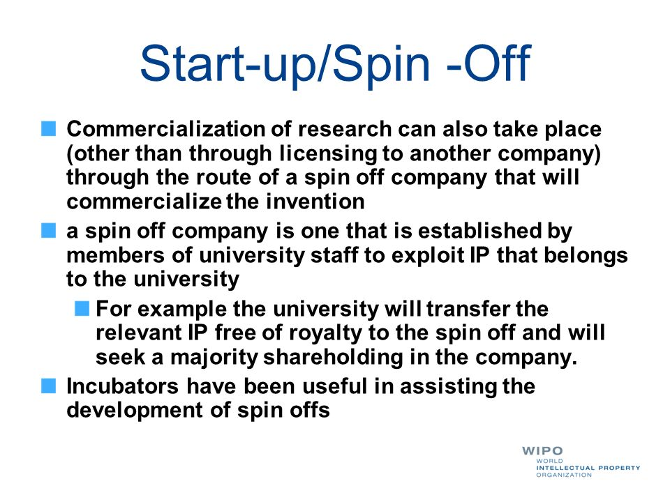 Start-up/Spin -Off