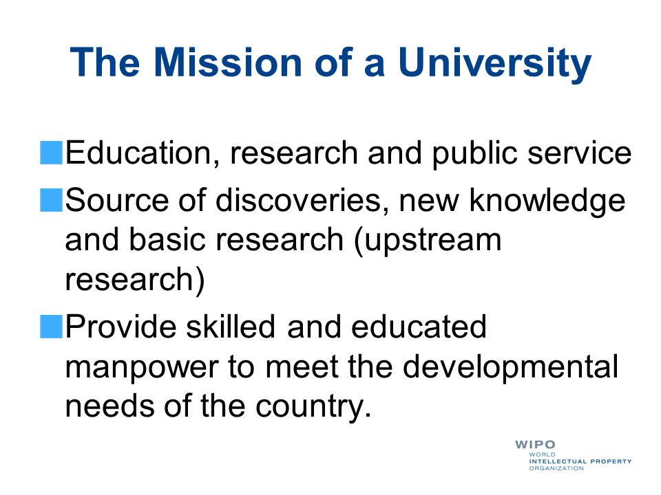 The Mission of a University