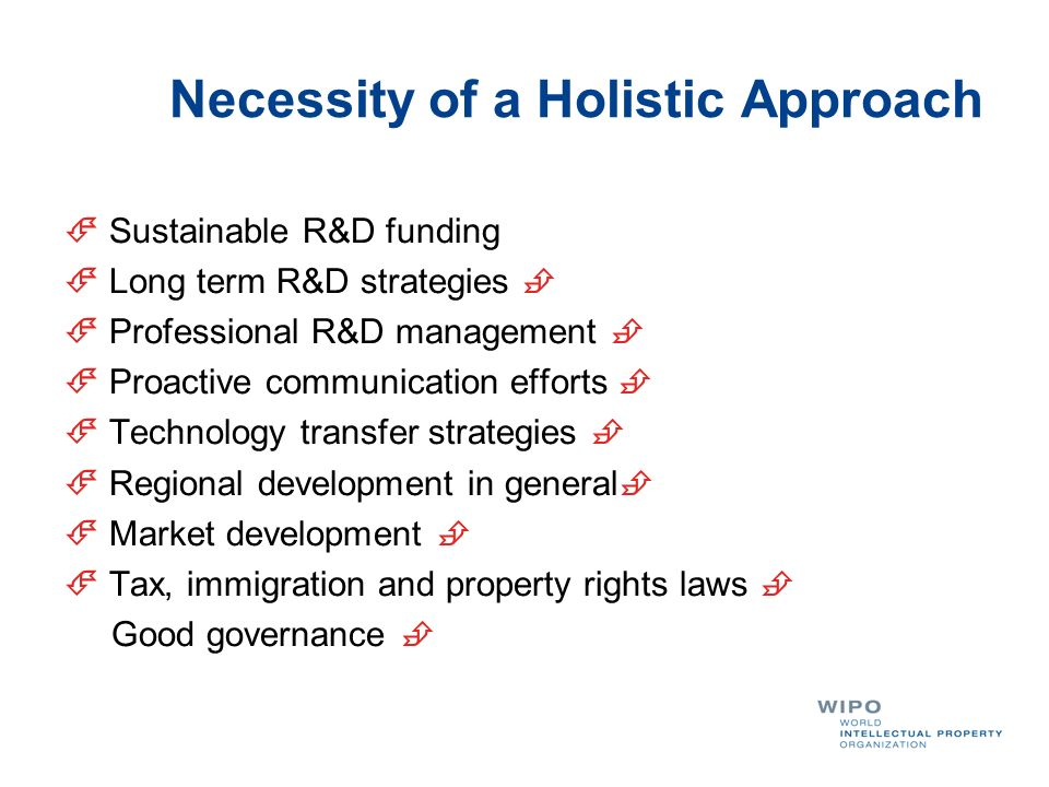 Necessity of a Holistic Approach