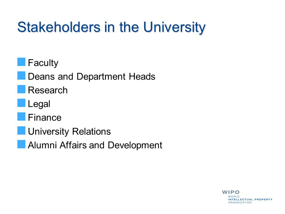Stakeholders in the University