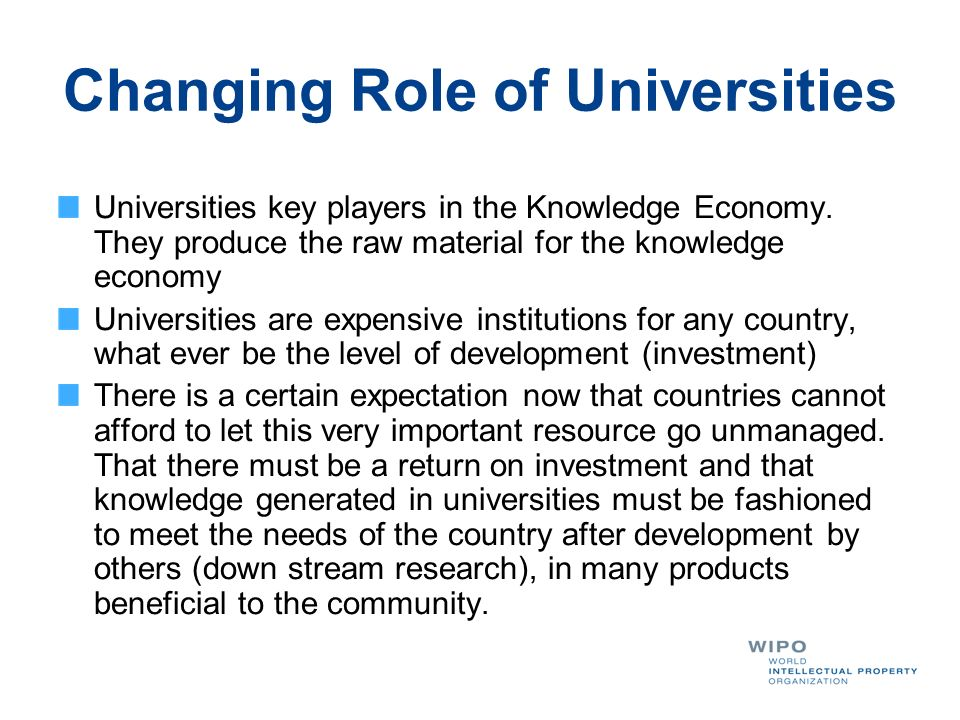 Changing Role of Universities